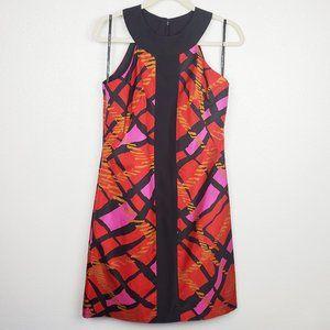 Badgley Mischka Sleeveless Silk Shift Dress